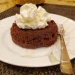 Keto Chocolate Mug Cake with Whip Cream