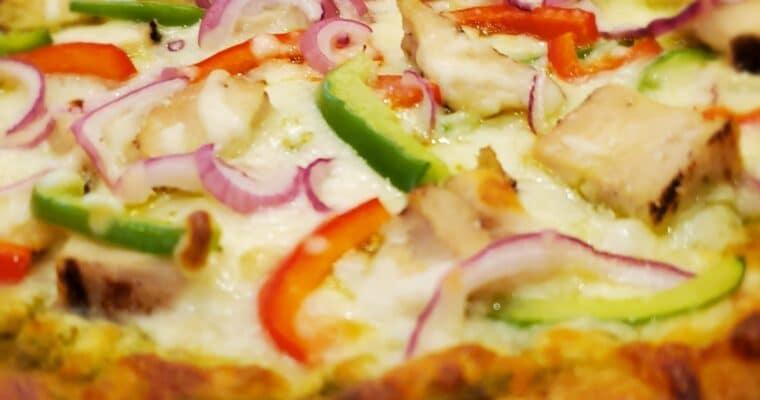Keto Chicken Basil Pesto Pizza