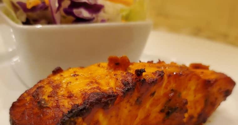 Tandoori Salmon Cooked in Air Fryer