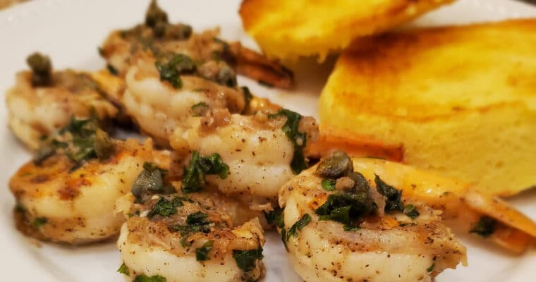 Garlic Butter Shrimp with Capers