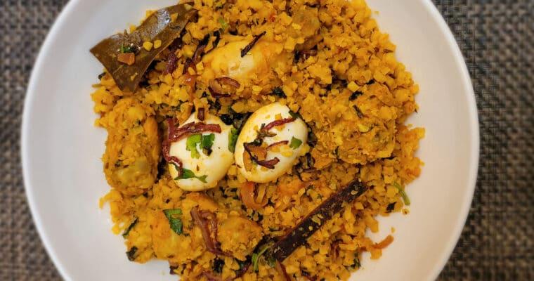 Keto Chicken Biryani with Cauliflower Rice