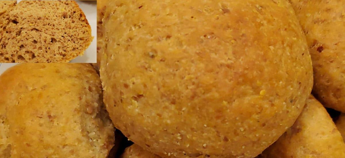 Keto Yeast Risen Bread Roll Featured