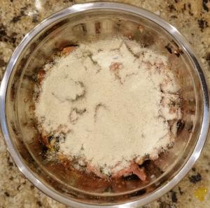 keto chicken pakora - almond flour