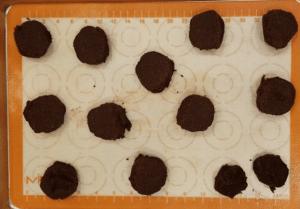 cookie dough spread apart