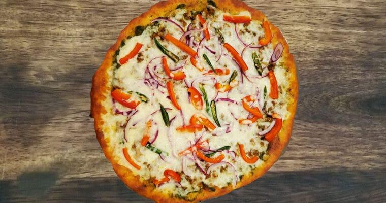 Keto Mutton Kheema Pizza