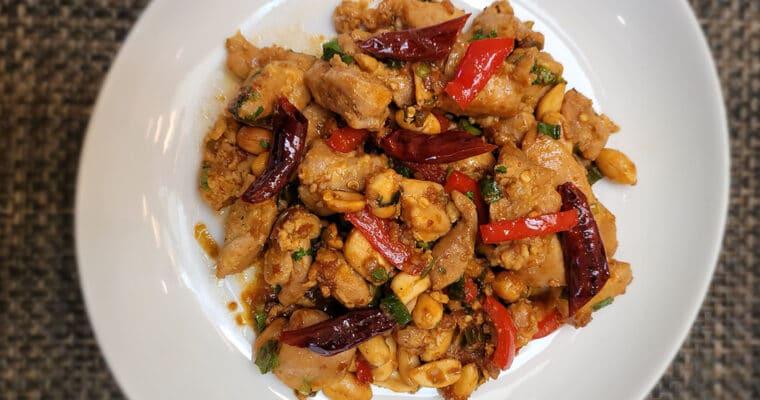 Keto Kung Pao Chicken Stir Fry
