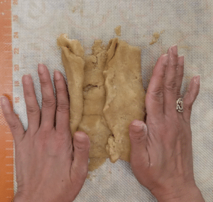 Fold in edges of egg puff dough