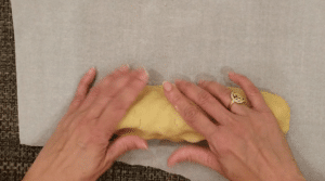 log shaped dough