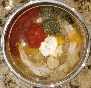 Fish tikka ingredients