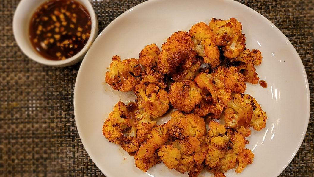 Keto Roasted Teriyaki Cauliflower