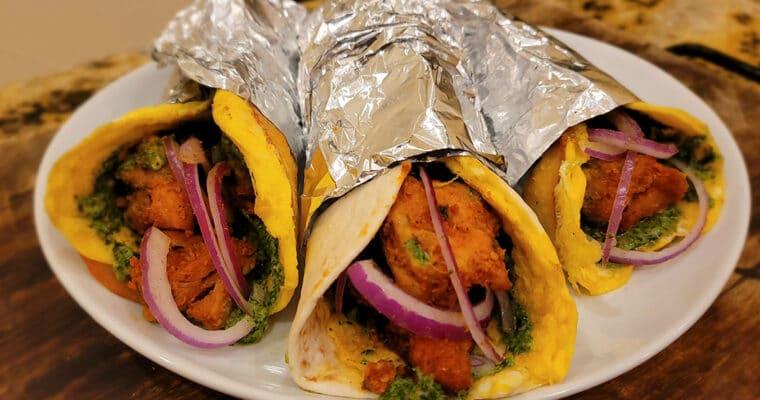 Keto Chicken Tikka Kathi Roll