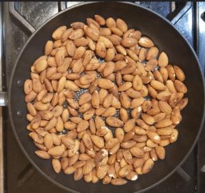 Dry Roast almonds