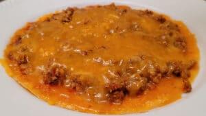 keto chicken tostada with crispy cheese folio