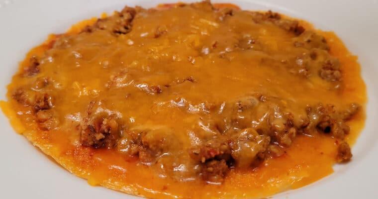 Keto Chicken Tostada with Crispy Cheese Folio Base