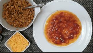 tostada - hot sauce