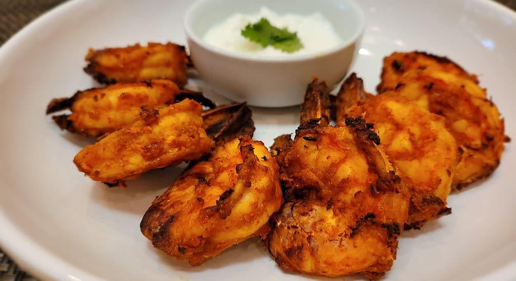 Keto Tandoori Shrimp in Air Fryer