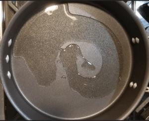 methi sabji - olive oil