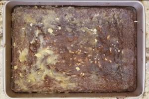 Keto fruit cake with glaze