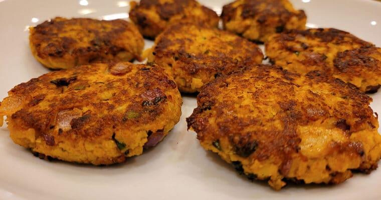 Keto Cauliflower Tikki | Cauliflower Fritters
